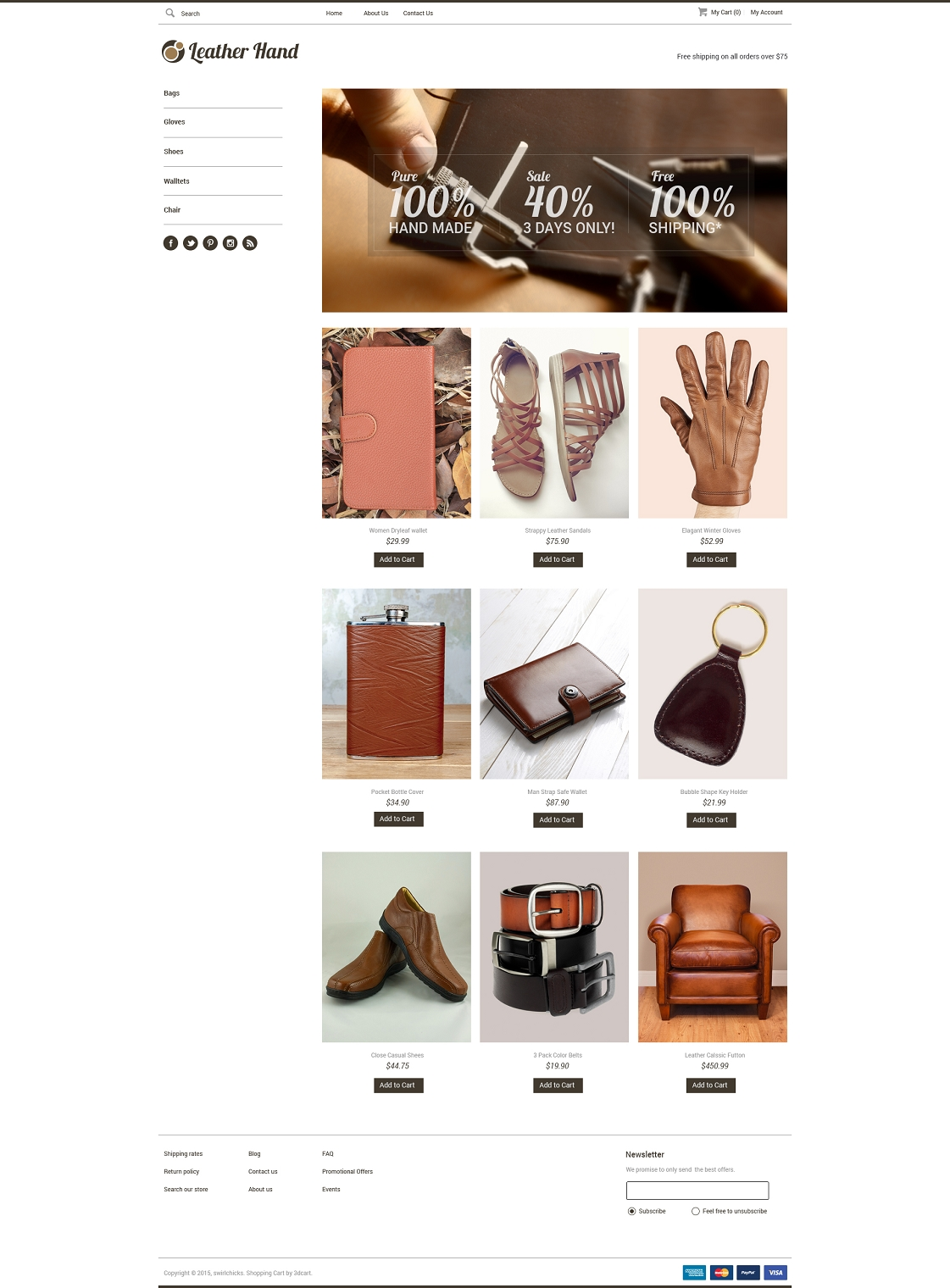Leather Hand Html5
