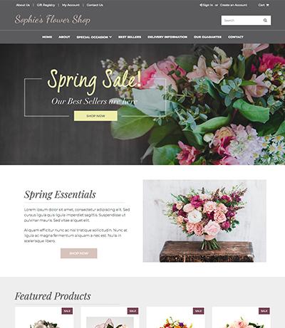 Free Flower Shop Template   Build Your Florist Website ...   Florist Website