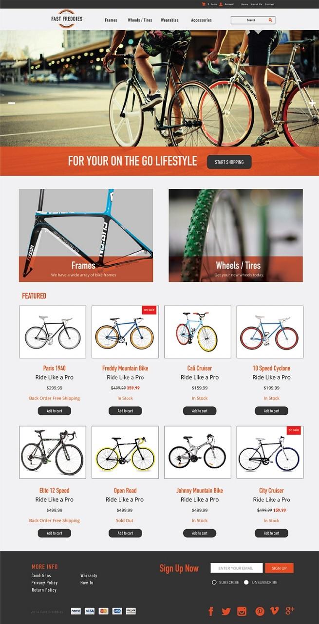 Bike Shop 3dcart Themes Bike Shop Ecommerce Website Template